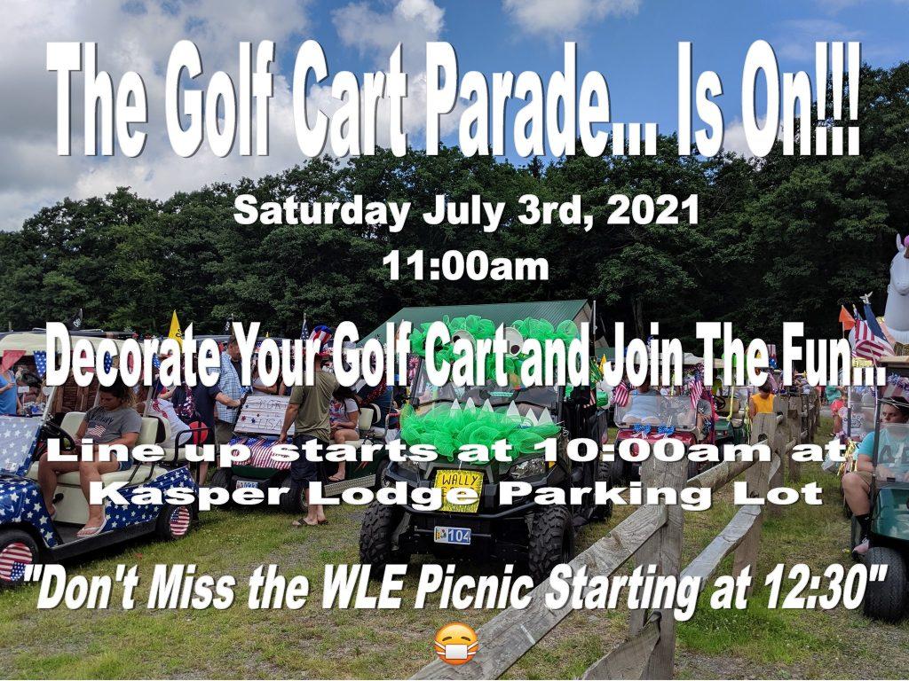 WLE Annual Golf Cart Parade flyer