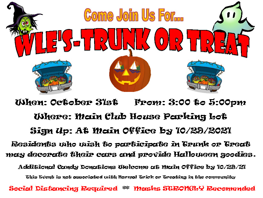 WLE's Trunk or Treat